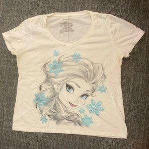 Disney Elsa Size XL T-shirt White